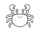 Disegno di Un granchio di mare da colorare