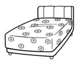 Disegno di Un letto da colorare