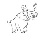 Disegno di Un Mammuth da colorare