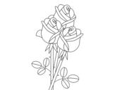 Disegno di Un mazzo di rose da colorare
