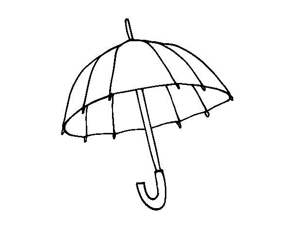 Disegno di Un ombrello da Colorare