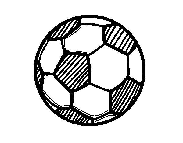 Disegno di un pallone da calcio da colorare - Pagina da colorare di un pallone da calcio ...