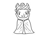 Disegno di Un piccolo vampiro da colorare