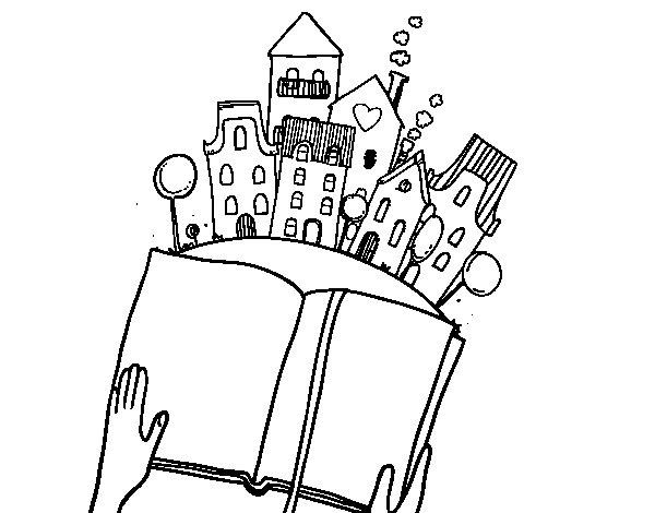 Disegno di Un racconto in città da Colorare