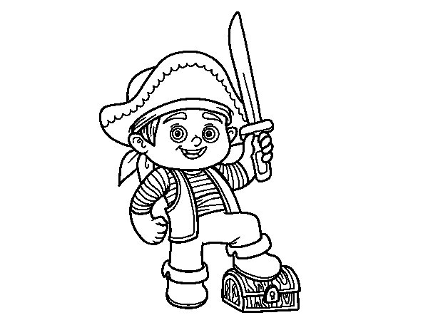 Disegno di Un ragazzo pirata da Colorare