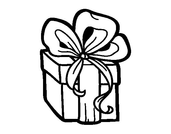 Disegno di un regalo di natale da colorare for Disfare la valigia in inglese