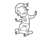 Disegno di Un skater da colorare