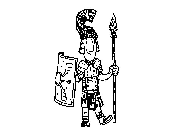 Disegno di Un soldato romano da Colorare