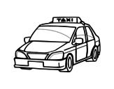 Dibujo de Un taxi