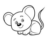 Disegno di Un topolino da colorare