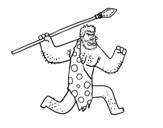 Dibujo de Un uomo delle caverne