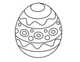 Disegno di Un uovo di Pasqua con motivi da colorare