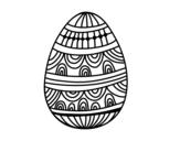 Disegno di  un uovo di Pasqua decorato da colorare