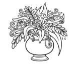 Disegno di Un vaso con fiori da colorare