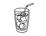 Disegno di Un vetro di soda da colorare