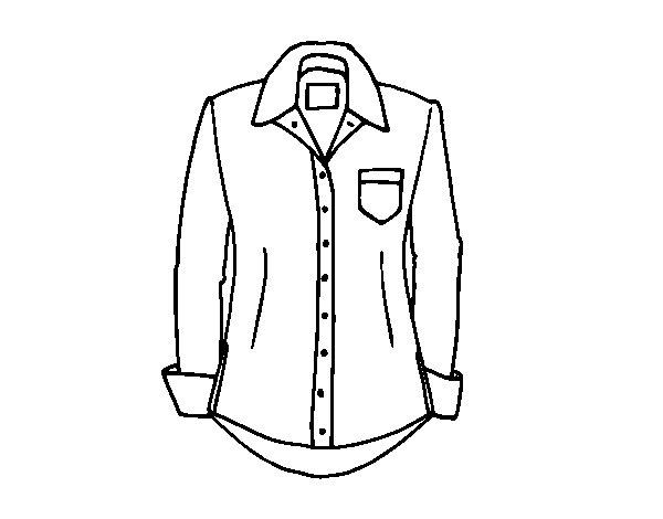 Disegno di Una camicia da Colorare