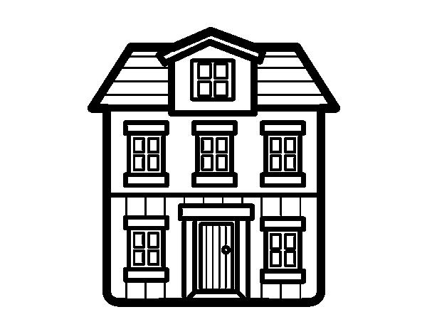 Disegno di una casa da colorare for Casa disegno