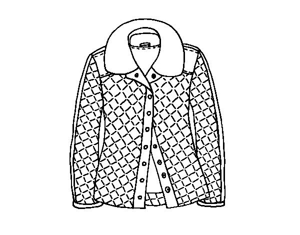 Disegno di una giacca da colorare for Disfare la valigia in inglese