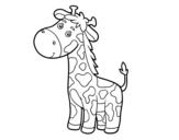 Disegno di Una giraffa da colorare
