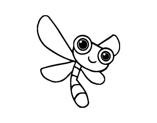 Disegno di Una libellule da Colorare