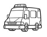 Disegno di Un'ambulanza da colorare