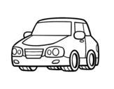 Disegno di Un'auto urbana da colorare