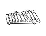 Dibujo de Uno xilofono