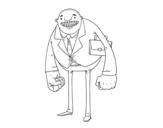 Dibujo de Uomo di grandi pugni