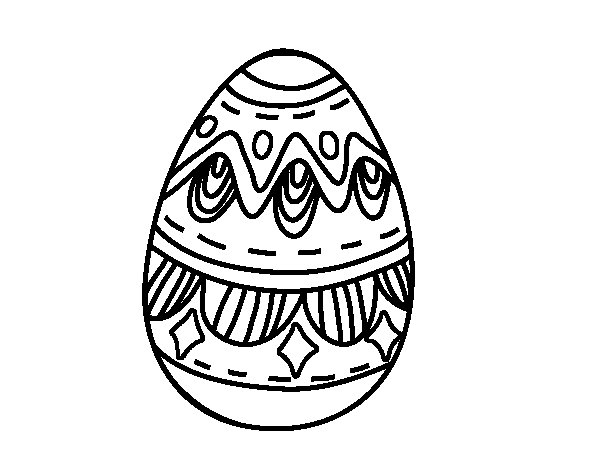 Disegno di Uovo di Pasqua con i diamanti da Colorare