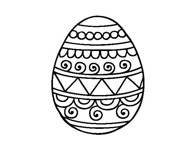 Preferenza Disegno di Uovo di Pasqua decorato da Colorare - Acolore.com JA13