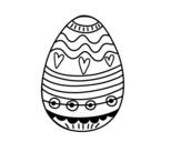 Disegno di Uovo di Pasqua decorazione da colorare