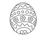 Disegno di Uovo di pasqua DIY da colorare