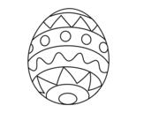 Disegno di Uovo di Pasqua infantile da colorare