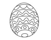 Disegno di Uovo di Pasqua per i bambini da colorare