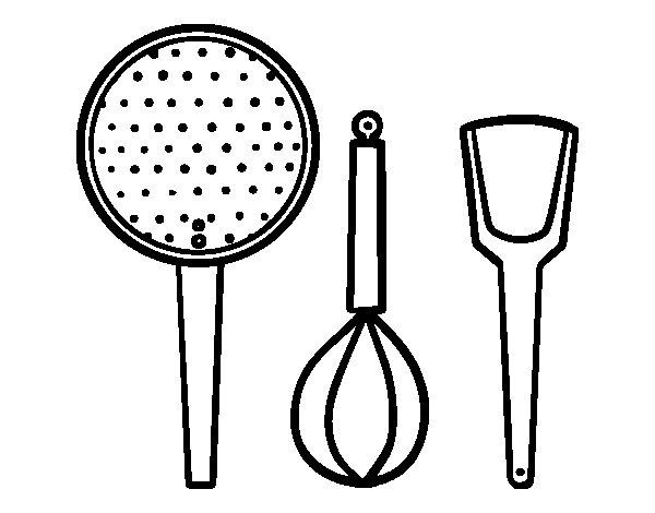 Disegno di utensili cucina da colorare for Disegni da colorare cucina
