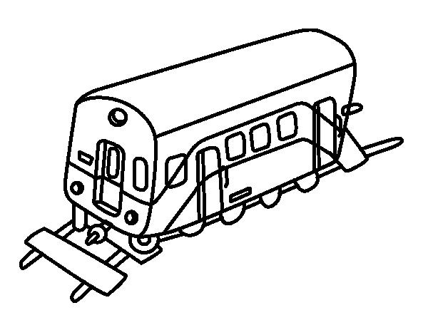 Disegno di Vagone da Colorare