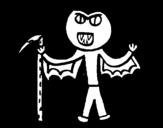 Disegno di Vampiro da colorare