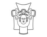 Disegno di Vecchio messicano maschera da colorare