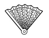 Disegno di Ventaglio decorato da colorare