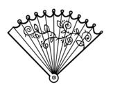 Disegno di Ventaglio rococò da colorare