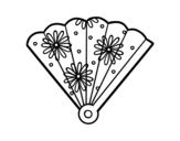 Disegno di Ventaglio spagnolo da colorare