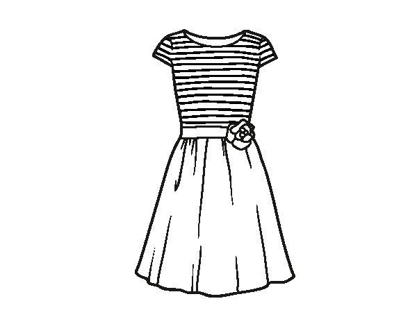 Molto Disegno di Vestito casuale da Colorare - Acolore.com IV01