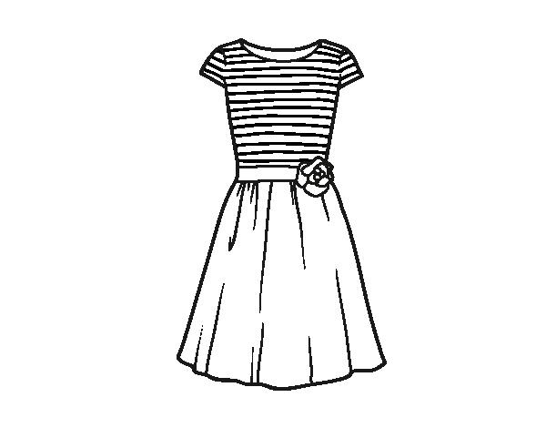 Disegno di vestito casuale da colorare for Barbie colora vestiti