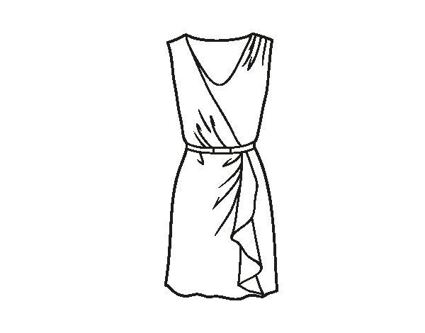 spesso Disegno di Vestito semplice da Colorare - Acolore.com HL92