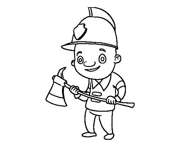 Disegno di Vigile del fuoco professionali da Colorare