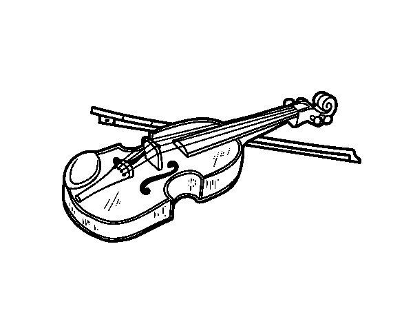 Disegno di Violino Stradivarius da Colorare