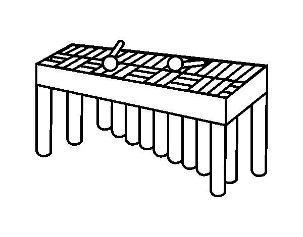 Disegno di Xilofono Orchestra da Colorare