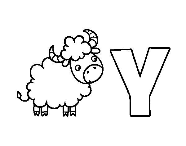 Disegno di Y di Yak da Colorare