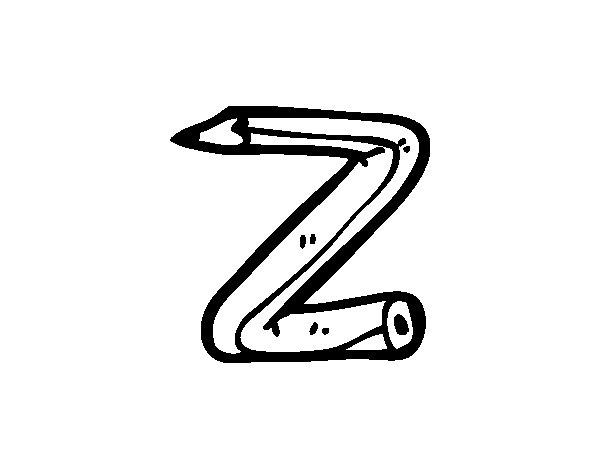 Disegno di Z minuscola da Colorare