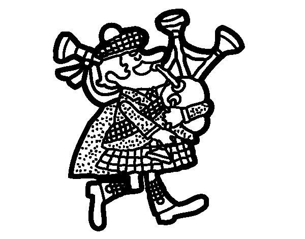 Disegno di zampognaro scozzese da colorare for Disfare la valigia in inglese